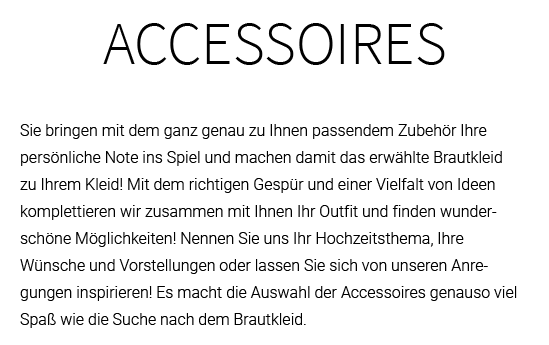 Brautaccessoires in  Ravenstein